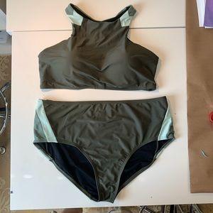 High Waist and High Neck 2-piece Bikini